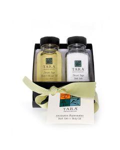 Desert Sage  Rejuvenation Set (2 oz Bath Salt + 2 oz Body & Massage Oil)